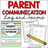 Parent Communication Log and Student Behavior Log and Forms