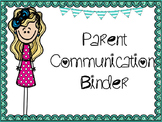 Parent Communication Binder/Log and Office Communication Log