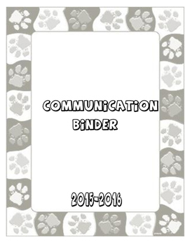 Parent Communication Binder Template