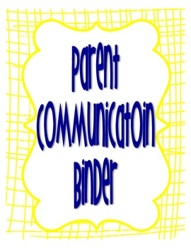 Parent Communication Binder with Positive Note Home
