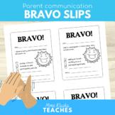 Parent Communication - Bravo Slips