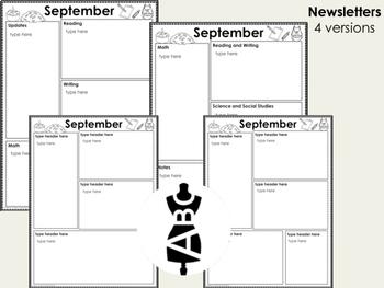Parent Communication Bundle: Editable Newsletters, Calendars and Reading Logs