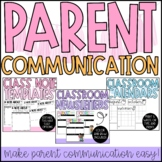 Parent Communication Bundle - Editable Templates