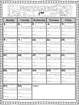 Parent Communication Calendar {Editable}