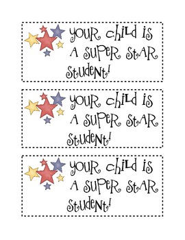 Parent Communication Cards