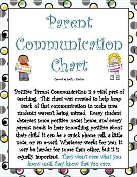 Parent Communication Chart