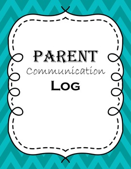 Parent Communication Log and Binder Covers