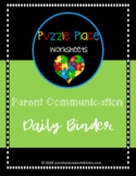 Parent Communication: Daily Binders