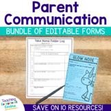 Parent Communication Editable Forms Bundle