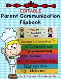 Parent Communication Flipbook (Editable) Recipe for Success theme