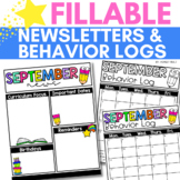 Parent Communication Folders and Newsletters for Back to School
