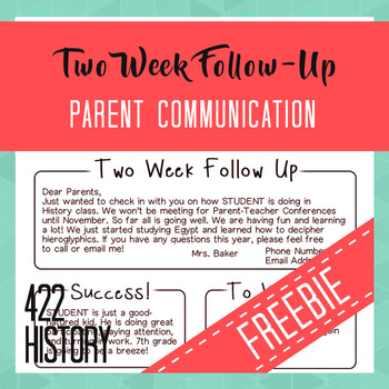 Parent Communication Follow Up Form