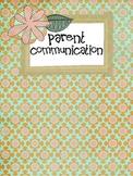 Parent Communication Form Sample