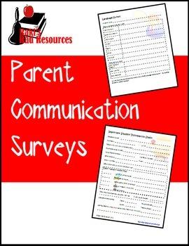 Parent Communication Forms & Surveys