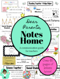 Parent Communication Guide -Notes and Letters Home to Parents