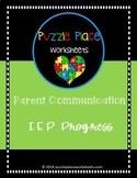 Parent Communication: IEP Progress Note