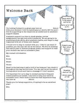 Parent Communication Letter: Classy Template Blue and Black