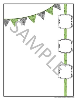 Parent Communication Letter: Classy Template Green and Black
