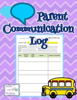 Parent Communication Log (by individual student)