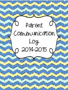 Parent Communication Log 2014-2015