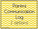 Parent Communication Log