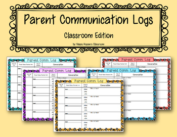 Parent Communication Log - Classroom Edition