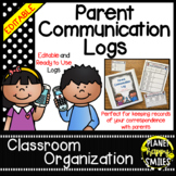 Parent Communication Log ~ Polka Dot B/W Print (Editable)