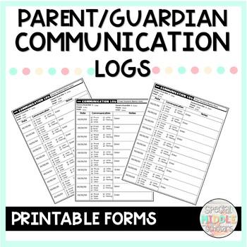 Editable Parent Communication Log