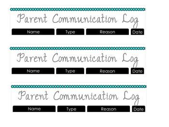 Parent Communication Log (Erin Condren Teacher Planner)