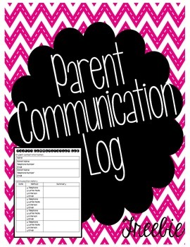 Parent Communication Log - FREEBIE