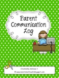Parent Communication Log: For Teachers