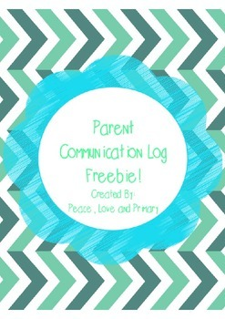 Parent Communication Log Freebie!