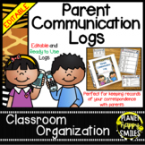 Parent Communication Log ~ Jungle/Safari Theme (Editable)