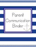 Parent Communication Log, Parent Teacher Conference Planne