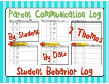 Parent Communication Log / Student Behavior Log