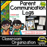 Parent Communication Log ~ Super Hero Theme (Editable)