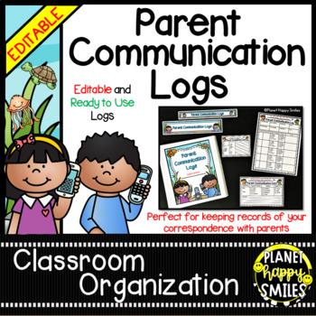 "Parent Communication Log ~ ""Under the Sea"" Ocean Theme (Editable)"