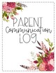 Parent Communication Log- Vintage Wood, Chalkboard, and Ch