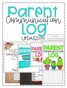 Parent Communication Log- Vintage Wood, Chalkboard, and Ch