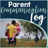Parent Communication Log for Back to School