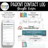 Parent Communication Log {Editable, with BONUS header imag