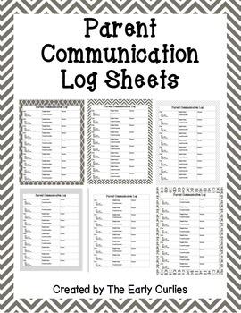 Parent Communication Logs {Gray}