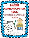 Parent Communication Logs for Speech/Language Therapy