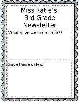 Parent Communication Newsletter Template (editable)