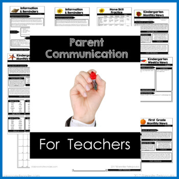 Parent Communication Newsletters and More EDITABLE