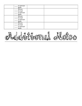Parent Communication Notebook