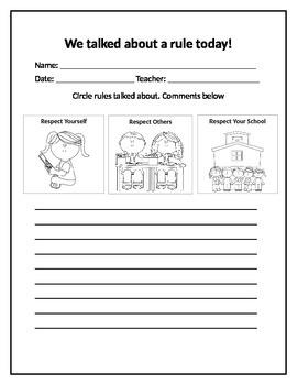 Parent Communication Notes