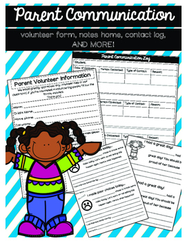 Parent Communication Notes Home and Contact Logs