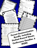 Parent Communication Packet Conferences/Contact Logs/Student Records