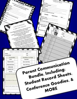 Parent Communication Packet Conferences/Contact Logs/Stude